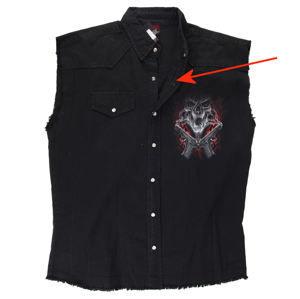 košile pánská bez rukávů SPIRAL - Street Reaper - Black - POŠKOZENÁ - NI090