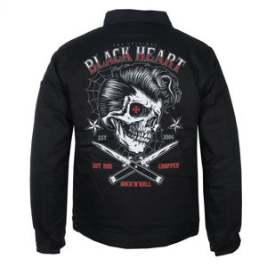 bunda pánská BLACK HEART - DENY BOY - BLACK - 006-0021-BLK XXL