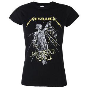 Tričko metal PLASTIC HEAD Metallica AND JUSTICE FOR ALL TRACKS černá