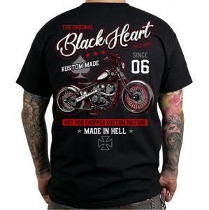 tričko pánské BLACK HEART - RED CHOP - BLACK - 001-0133-BLK