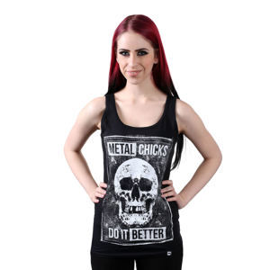 tílko METAL CHICKS DO IT BETTER SKULL XS/S