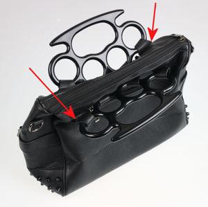 kabelka (taška) VIXXSIN - PENTACULT - BLACK - POŠKOZENÁ - MA253