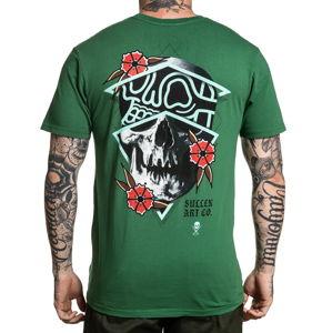 tričko pánské SULLEN - RIGONI SKULL - GREEN - SCM2758_GR XL