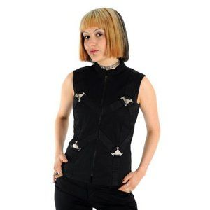 vesta ADERLASS Metal Top Denim Black L