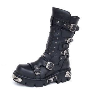 boty kožené NEW ROCK 1020-S2 černá 37