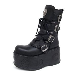 boty kožené dámské - 1473-S3 - NEW ROCK - M.1473-S3