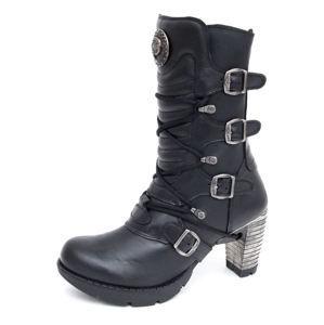 boty na podpatku NEW ROCK TR003-S1 černá 38
