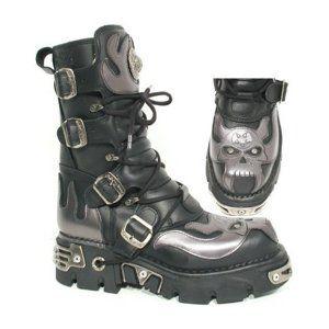 Boty New rock - Vampire Boots (107-S2) Black-Grey