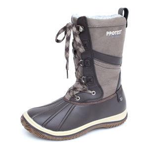boty zimní dámské - Samara - PROTEST - 260 BROWN FABRIC