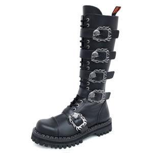 boty kožené KMM černá 47