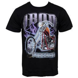 tričko Hero Buff Iron Ride černá S