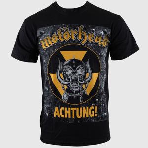 Tričko metal ROCK OFF Motörhead Achtung g- Blk černá vícebarevná