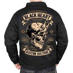 bunda pánská BLACK HEART - DEVIL SKULL - BLACK - 006-0016-BLK