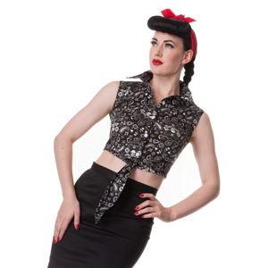 99d536fed53c košile (vesta) dámská HELL BUNNY - Bandana - BLK - 6323