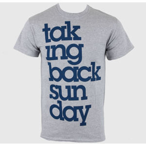 Tričko metal LIVE NATION Taking Back Sunday Logo Sports šedá XL