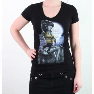 tričko hardcore BLACK MARKET Kris Chisholm černá šedá hnědá S