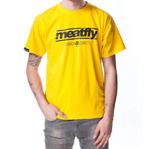 tričko street MEATFLY COMPANY E šedá hnědá žlutá S