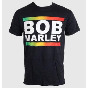 tričko metal BRAVADO EU Bob Marley Rasta Band Block černá šedá hnědá S