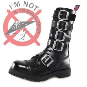 boty NEVERMIND - 14 dírkové - Polido Black - 10114S5B