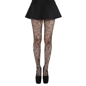 punčocháče PAMELA MANN - Cobweb Pattern Tights - Black - PM075 One size