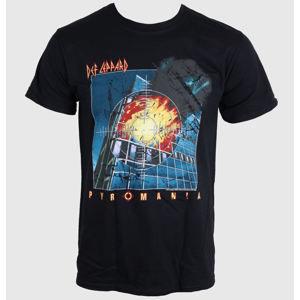 tričko metal LIVE NATION Def Leppard PYROMANIA černá M