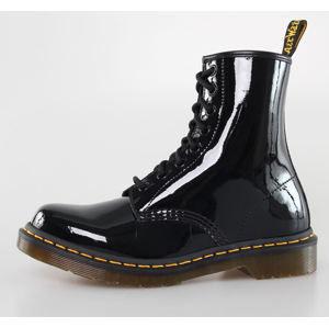 boty kožené Dr. Martens 8 dírkové černá 37