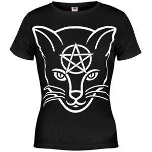 tričko hardcore AMENOMEN Head Cat černá L