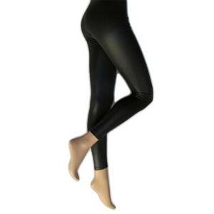 kalhoty dámské (legíny) LEGWEAR - Lather Look - Black - SHLELE2BL1