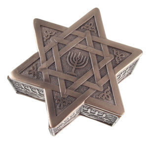krabička (dekorace) Star of David & Menorah - G1522D5
