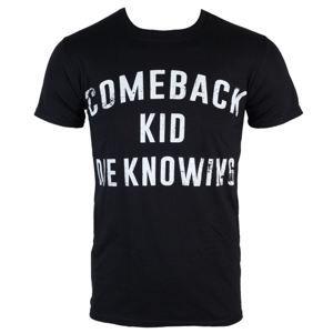 Tričko metal KINGS ROAD Comeback Kid Die Knowing černá S