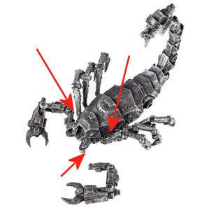 dekorace Scorpion - CYBER - POŠKOZENÁ - N259