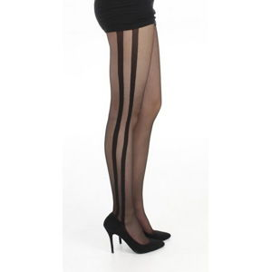 punčocháče PAMELA MANN - Side Stripe Sheer - Black - PM236 S/M