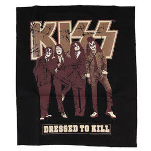 nášivka KISS - Dressed to Kill - BLK - LOW FREQUENCY - KIPA05002