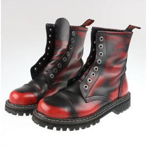 boty KMM - 8dírkové - Black/Red - 080 - POŠKOZENÉ - MA212