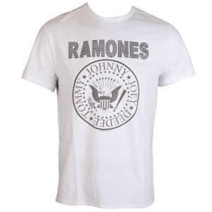 tričko metal AMPLIFIED Ramones LOGO černá bílá XL