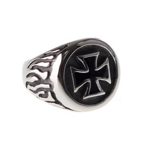 prsten ETNOX - Black Iron Cross - SR1140 56