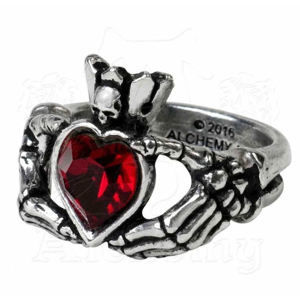 prsten ALCHEMY GOTHIC - Claddagh By Night - R210 Q