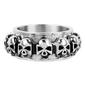 prsten INOX - skulls around - FR1046 10