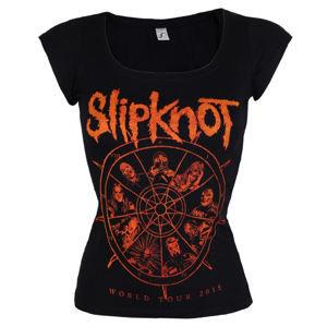 Tričko metal ROCK OFF Slipknot The wheel černá XL