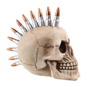 dekorace (pokladnička) Skull with bullets - 78/5734