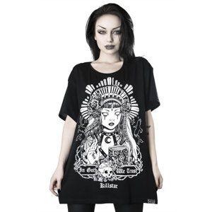 tričko dámské KILLSTAR - In Goth We Trust Relaxed - KSRA000813 S