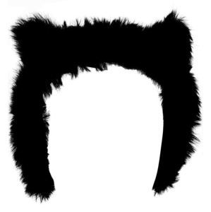 klapky na uši KILLSTAR - Le Chat Noir Ear Muffs - Black - K-MIS-F-2784