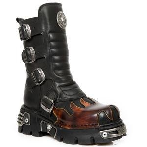 boty kožené NEW ROCK CRUST NEGRO PULIK černá 42