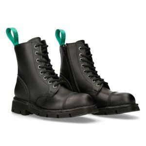 boty kožené NEW ROCK VEGAN NEGRO černá 43