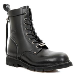 boty kožené NEW ROCK ANILIN NEGRO černá 45