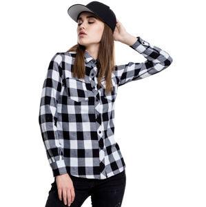 košile dámská URBAN CLASSICS - Turnup Checked Flannel - TB1280-blk/wht