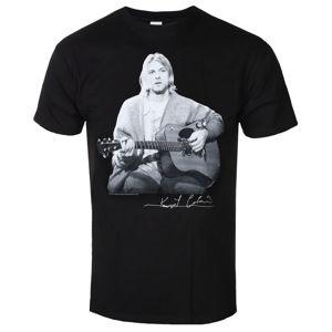Tričko metal ROCK OFF Nirvana Guitar Live Photo černá XL