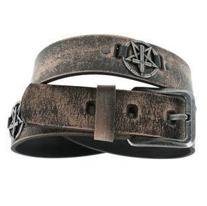 opasek s kovem Leather & Steel Fashion brown 110