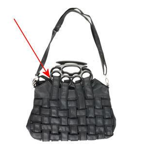 taška (kabelka) POIZEN INDUSTRIES - Jade - BLACK . POŠKOZENÁ - MA252