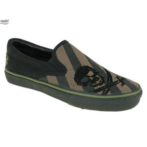tenisky nízké DRAVEN Alcatraz Slip On černá šedá zelená 48